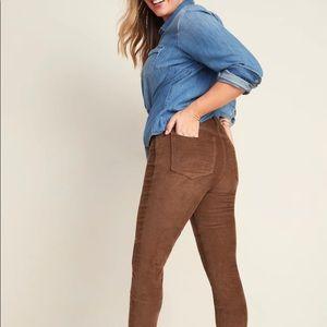 Old Navy mid-rise corduroy rockstar skinny pants
